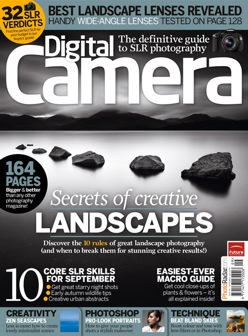Couverture du magazine anglais Digital Camera - Septembre 2011