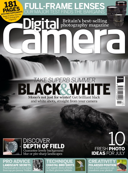 Couverture du magazine anglais Digital Camera magazine de juillet 2013
